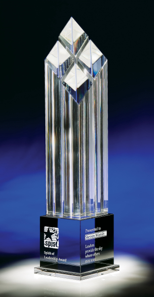 Rhombus IV Optic Crystal Award - Large