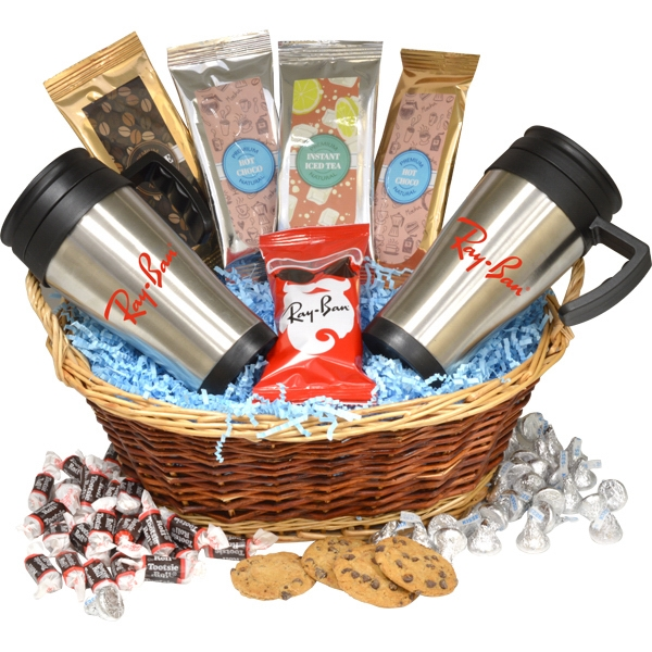 Premium Mug Gift Basket with Chocolate Covered Peanuts