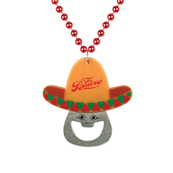 Cinco de Mayo Bottle Opener Medallion Beads