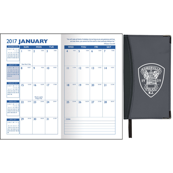 Ascot Two-Tone Vinyl Soft Cover Monthly Planner