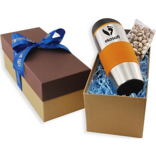 Gift Box with Tumbler and Pistachios