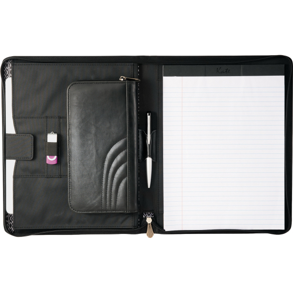 Fine Society Kate Deco Zippered Padfolio