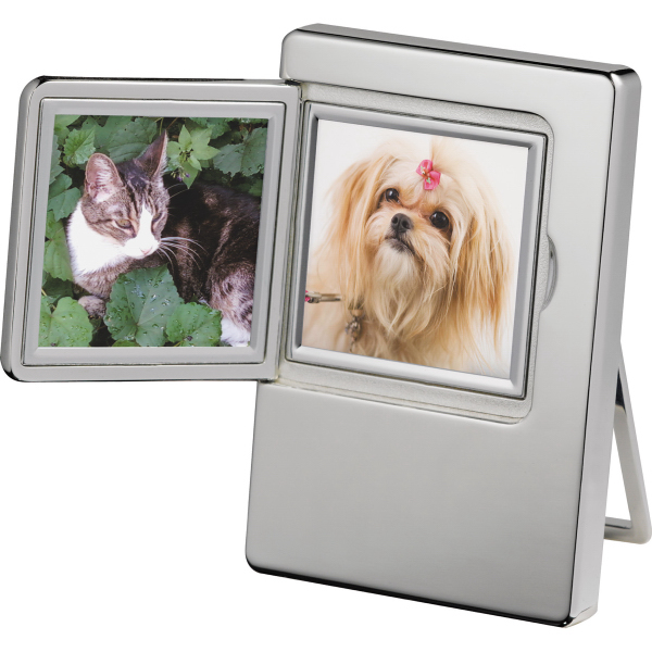 CLEARANCE:Radiance Silver Plated Double Frame