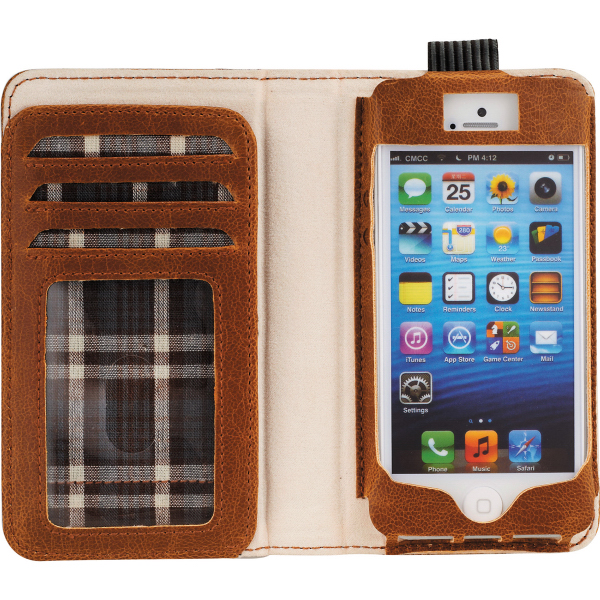Field & Co.(TM) Book Case for iPhone 5/5S