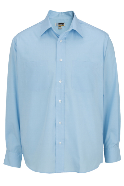 "Men's Traditional Long Sleeve Broadcloth Shirt - 35"" Sleeves"