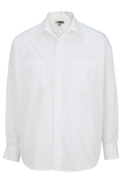 "Men's Traditional Long Sleeve Broadcloth Shirt - 33"" Sleeves"