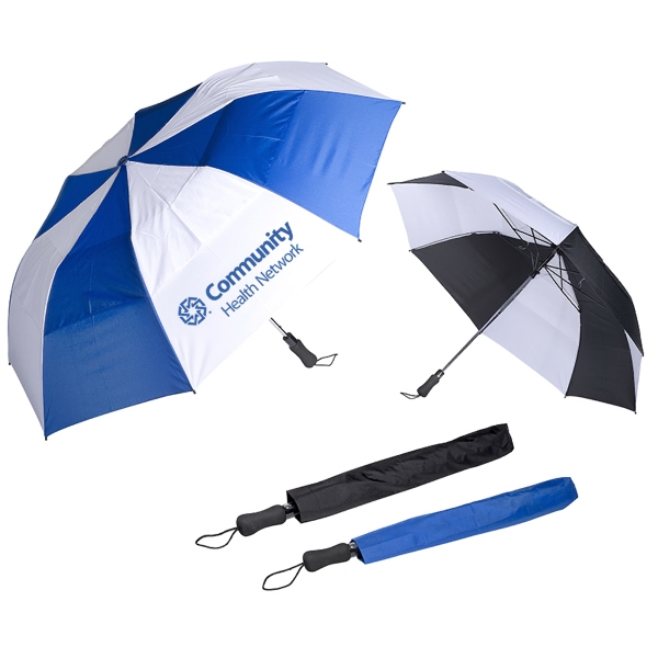 Vented Auto Open Golf Umbrella - 58""