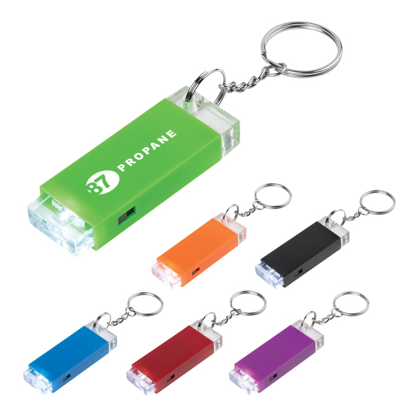 Oblong LED Light Key Chain
