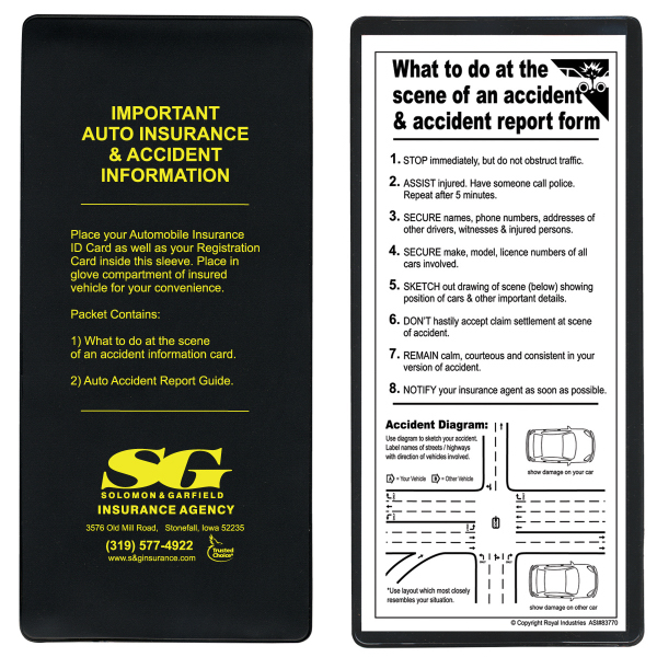 Insurance Card Holder Kit with Special Copy