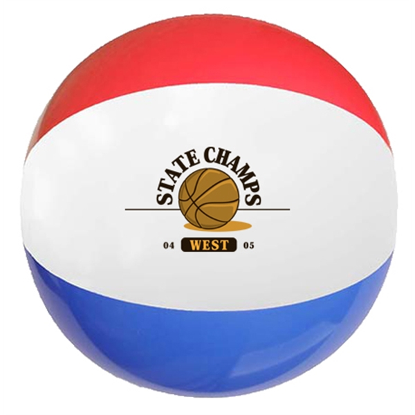 "12"" Red-White-Blue Beach Ball"