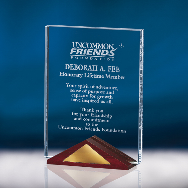 Optic Crystal Plaque Award - Small