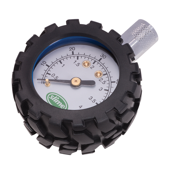 Tire Pressure Gauge with Rubber Tire Cover