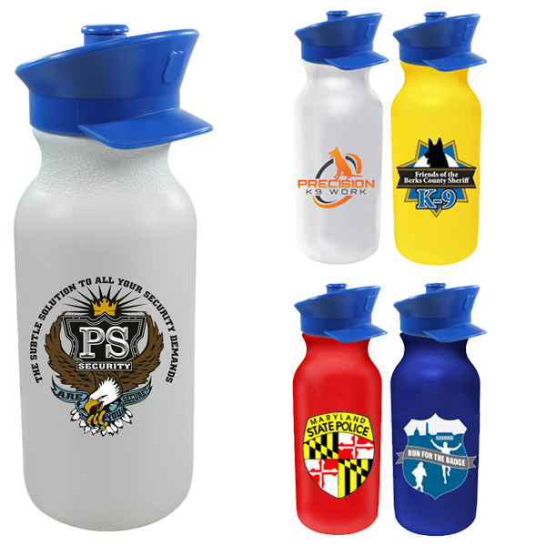 20 oz Value Cycle Bottle w/ Police Hat Push 'n Pull Cap,FCD