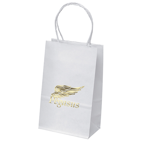 Pup-White Paper Shopper Bag
