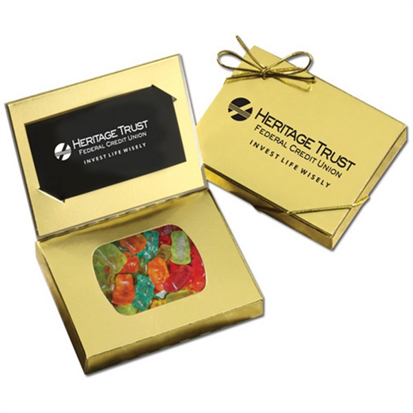 Gold Credit Card Gift Box with Gummy Bears