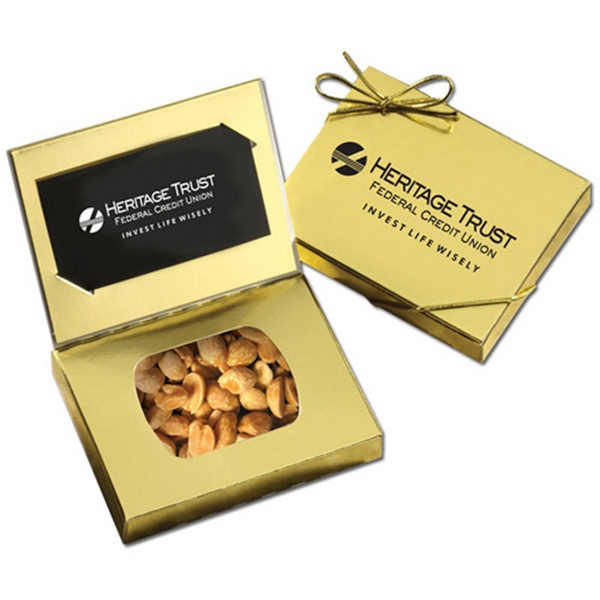 Gold Credit Card Gift Box with Peanuts