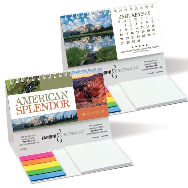 American Splendor Combination Desk Calendar
