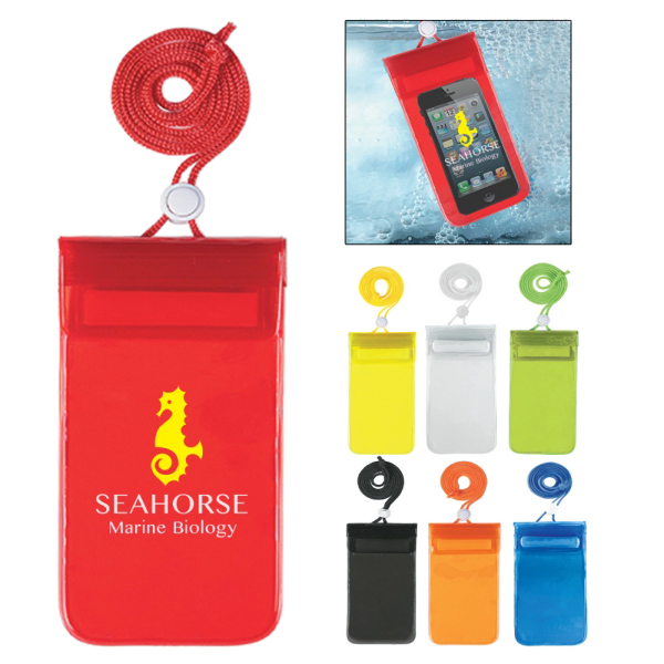Waterproof Pouch - Phone Case or Sleeve With Neck Cord
