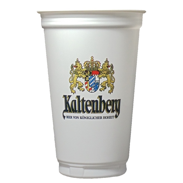 Digitally Printed 20 oz. White Plastic Economy Cup