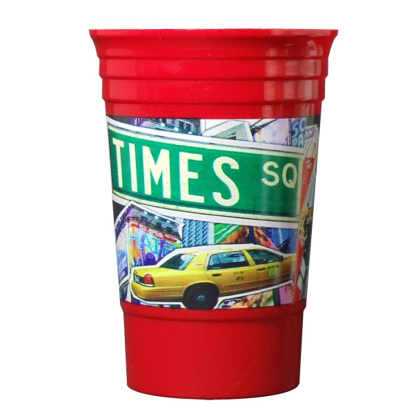 Digitally Printed 20 oz. Single Wall Party Cup