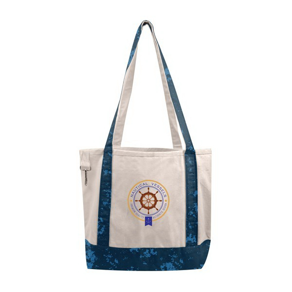 Distressed Printed Small Boat Tote