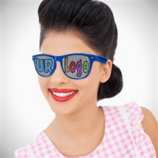 Blue Custom Classic Retro Billboard Sunglasses
