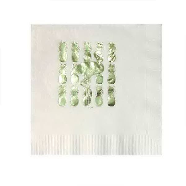 Foil Stamped 3 Ply Luncheon Napkin