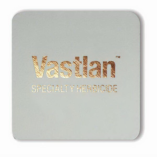 Foil Stamped 40 pt. White Square Coaster