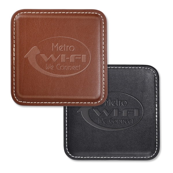 Vintage Leather 4-Square Coaster
