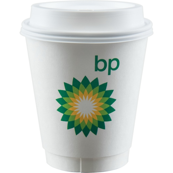 12 oz Insulated Paper Cup - White
