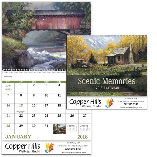 Spiral Scenic Memories Appointment Calendar