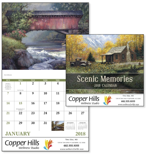 Stapled Scenic Memories Appointment Calendar