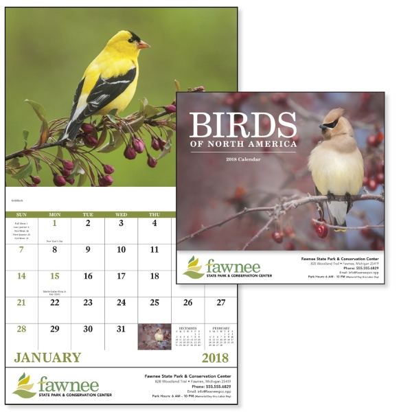Stapled Birds of North America Appointment Calendar