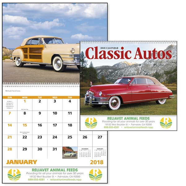 Spiral Classic Autos Vehicle Appointment Calendar