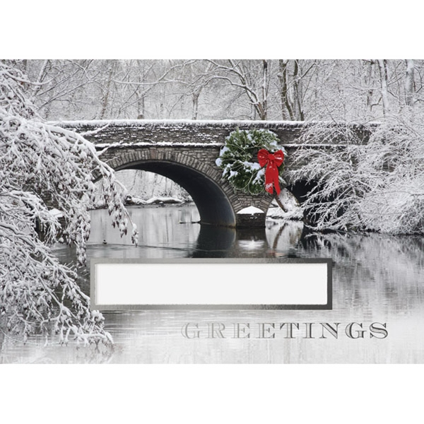 Holiday Bridge Greeting Card