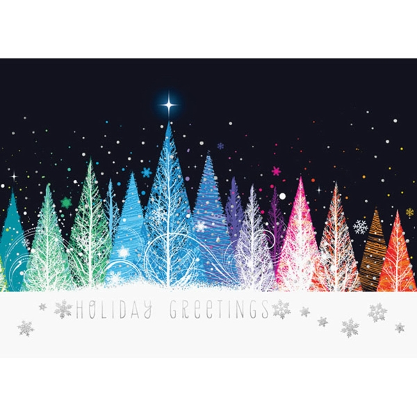 Color Bright Trees Greeting Card