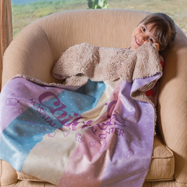Sherpa Lined Micro Mink Baby Blanket
