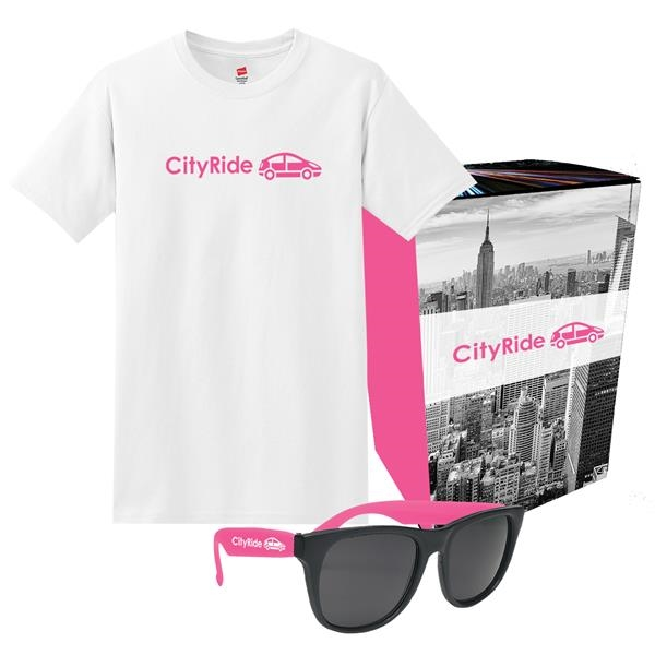 Delta T-Shirt And Sunglasses Combo Set With Custom Box