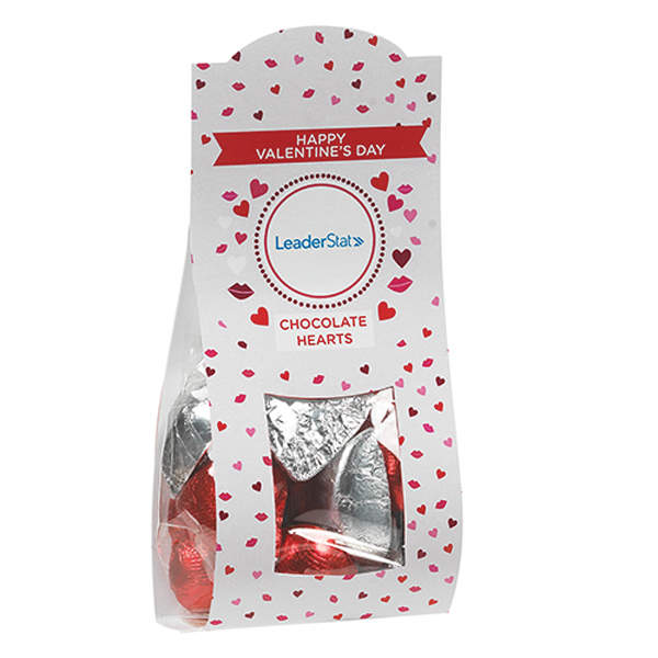 Darling Deskdrops - Silver & Red Chocolate Hearts