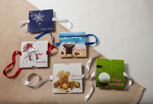 Themed Printed Cards with Satin Ribbon