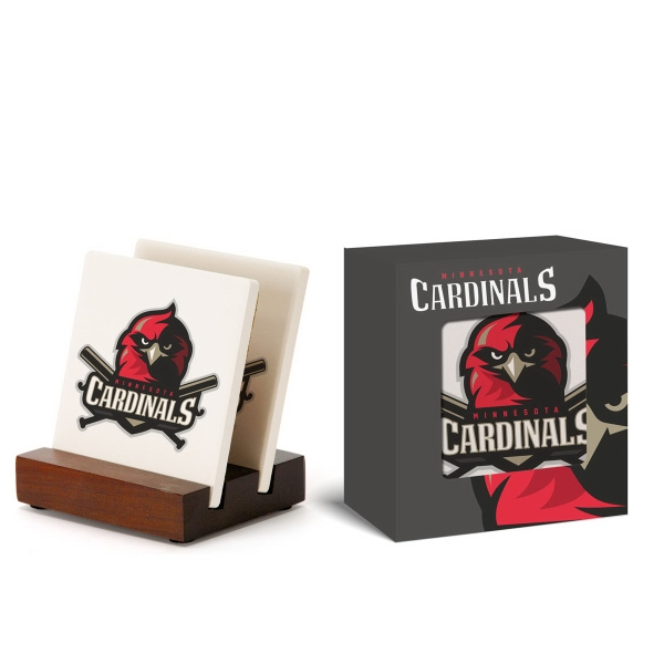 2pc Square Ceramic Coaster Set in Gift Box