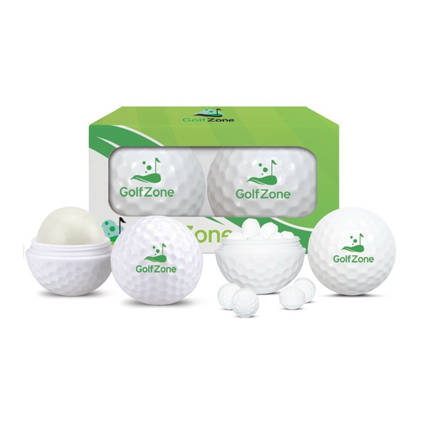 2 pc Golf Ball Mint & Lip Balm Sleeve in Gift Box