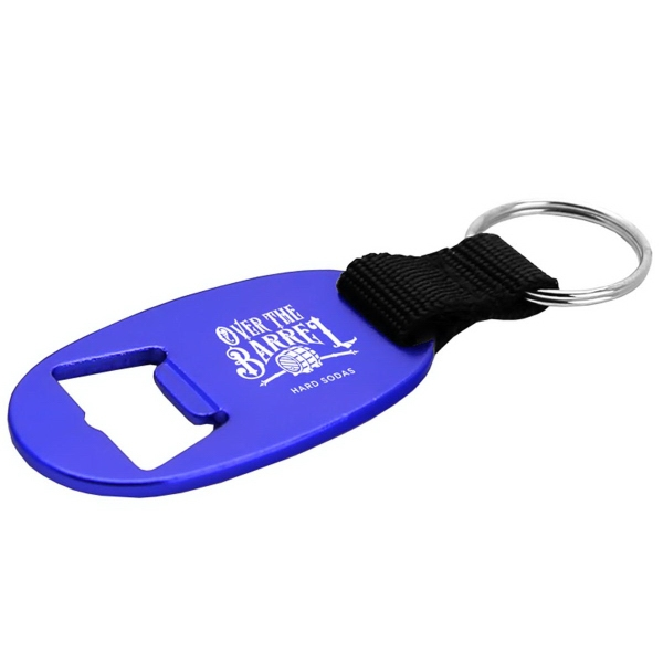 Flat Bottle Opener and Key Ring