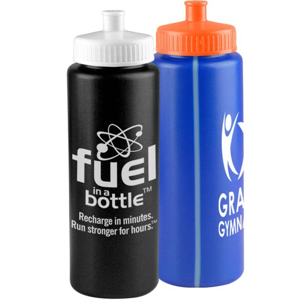 The Sports Quart - 32 Oz. Sports Bottle W/ Push Pull Lid
