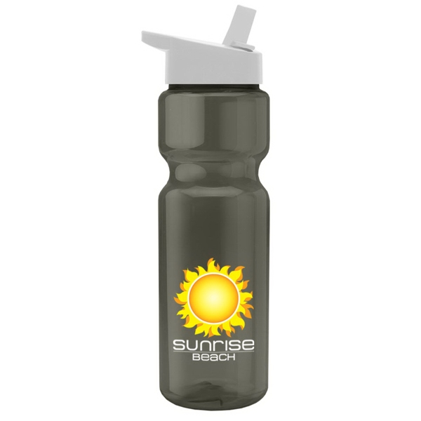 28 oz. Transparent Bottle with Flip Straw Lid - Digital