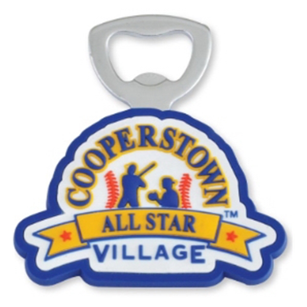 "4-1/2"" Custom Bottle Opener w/ Magnet Back"