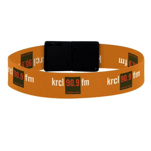 "1/2"" Dye-Sublimated Wristband w/ Convenience Release"