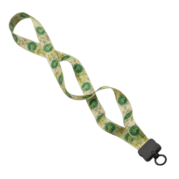 3/4 Recycled PET Dye-Sublimated Lanyard w/Clamshell & O-Ring