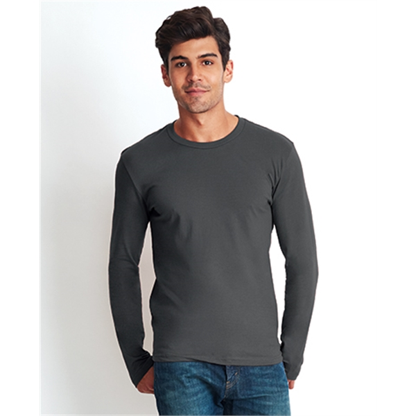 Mens Cotton Long Sleeve Crew shirt