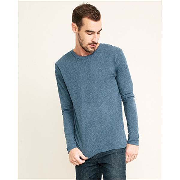 Mens Triblend Long Sleeve Crew shirt